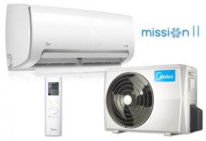 Midea Mission R32 MB-09N8D6-SP inverteres oldalfali split klíma I 2,5 kW